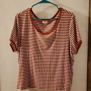 White and red striped tshirt